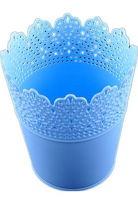 Pastisya mavi Dekoratif Plastik Kova