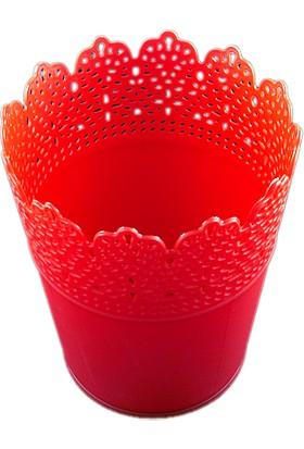 Pastisya kırmızı Dekoratif Plastik Kova