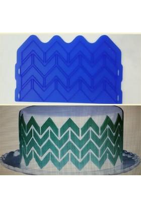 Silikoline pasta Bordürü Yukarı Aşağı