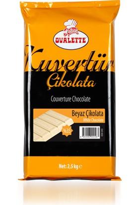 Ovalette Kuvertur Fildişi Çikolata (%35Lik)