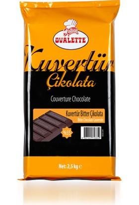Ovalette Kuvertur Bitter Çikolata (%55Lik)