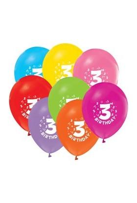 Pastisya 3 Yaş Doğum Günü Balonu 5 Ad