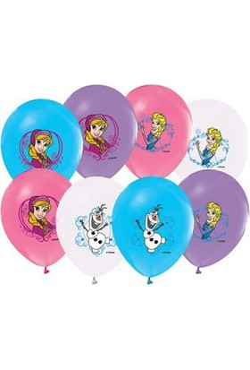 Alpenhaın frozen Baskılı Latex Balon 5 Ad