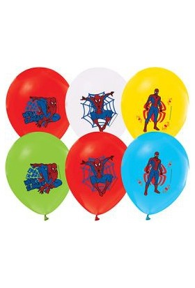 Alpenhaın spiderman Baskılı Latex Balon 5Ad