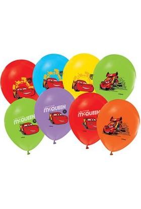 Alpenhaın cars Baskılı Latex Balon 5Ad