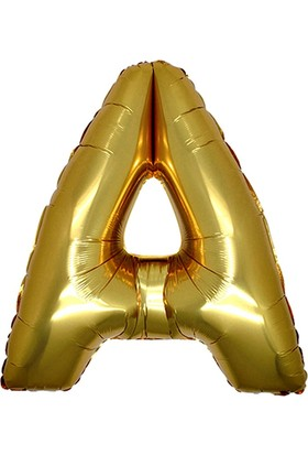 Alpenhaın a Harfi Altın Folyo Balon 1 Metre