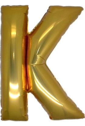 Alpenhaın k Harfi Altın Folyo Balon 1 Metre