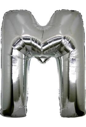 Alpenhaın m Harfi Gümüş Folyo Balon 1 Metre