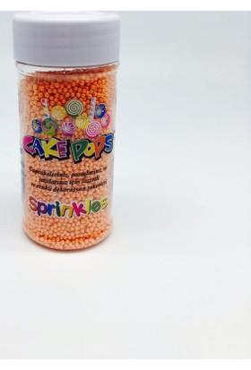 Sprinkles turuncu 2 Mm Boncuk Sprinkles 45 Gr.
