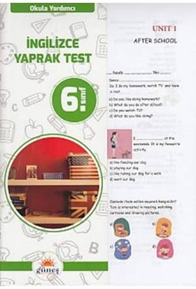 Güneş 6. Sınıf İngilizce Yaprak Test