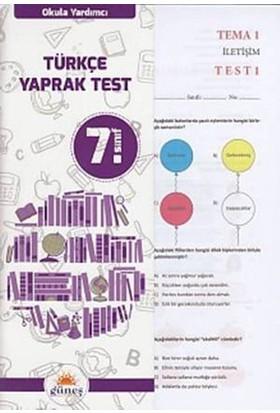 Güneş 7. Sınıf Türkçe Yaprak Test