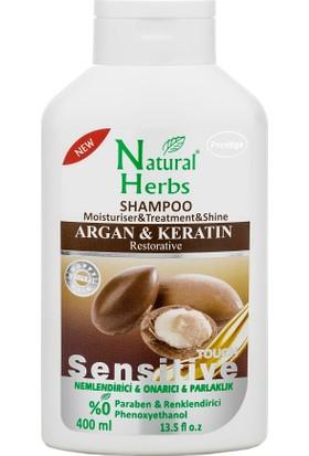 Natural Herbs Argan Keratin Şampuan 400 Ml