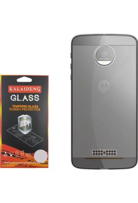 Gpack Motorola Moto Z Kılıf 02mm Silikon Case +Cam