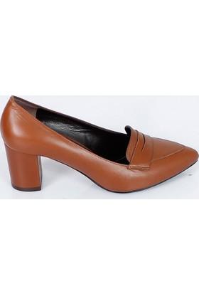 Bertoni Taba Sivri Burun Kalın Topuklu Kadın Ayakkabı 358