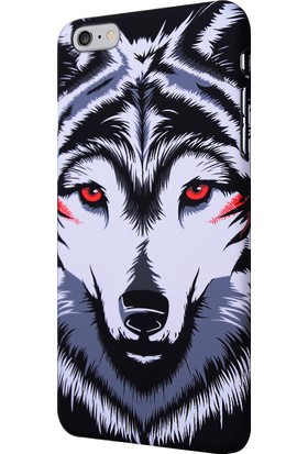 CaseUp Apple iPhone 6 Plus Kılıf Kurt Desenli Rubber