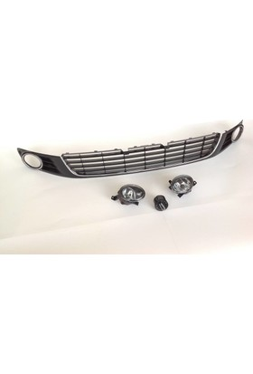 Volkswagen Golf 6 Sis Farlı Krom Izgara+Far Anahtarı 6 Parça Set