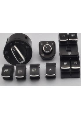 Volkswagen Rabbit Kromlu Kontrol Düğmeleri 6 Lı Set