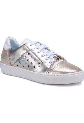 Butigo 2886/03 Altın Kadın Deri Sneaker Ayakkabı