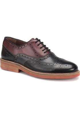 Cordovan 5954 M 1506 Siyah Gri Bordo Erkek Ayakkabı