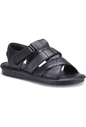 Flexall 104 M 1626 Siyah Erkek Sandalet
