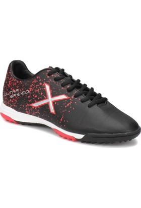 Kinetix Specle Turf X Siyah Kırmızı Erkek Halı Saha Ayakkabısı