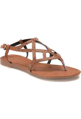 Miss F Ds17041 Taba Kadın Sandalet