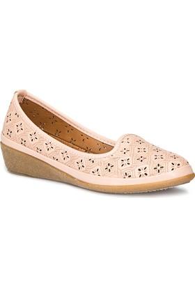 Polaris 71.157270.Z Pudra Kadın Dolgu Topuk Ayakkabı
