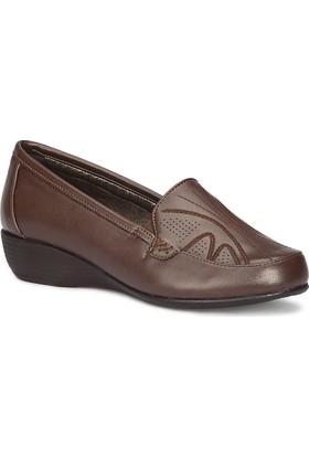 Polaris 71.157276.Z Kahverengi Kadın Dolgu Topuk Ayakkabı