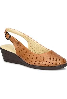 Polaris 71.157325.Z Taba Kadın Dolgu Topuk Sandalet