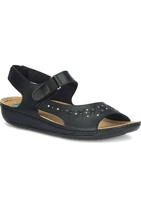 Polaris 71.157352.Z Siyah Kadın Sandalet