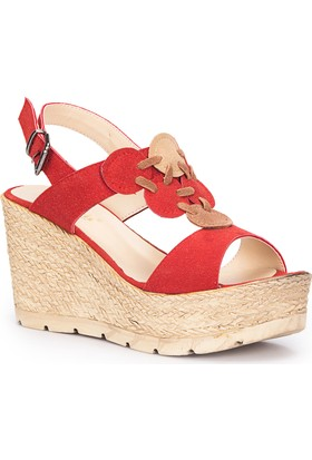Polaris 71.309958.Z Kırmızı Kadın Sandalet