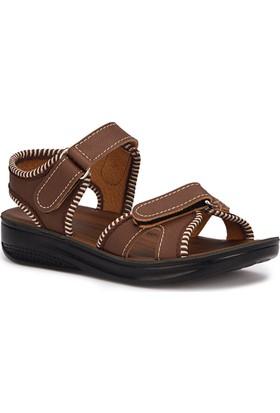 Polaris 71.508237.F Kahverengi Erkek Çocuk Sandalet