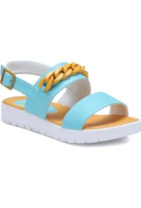 Seventeen Svs220 Turkuaz Kız Çocuk Sandalet