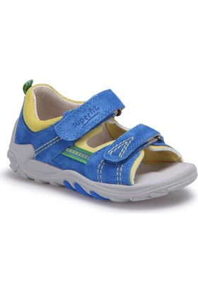 Superfit 00030-85 Be Mavi Erkek Çocuk Deri Sandalet