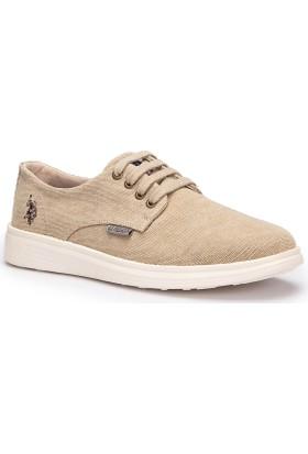 U.S. Polo Assn. Lugo Bej Erkek Sneaker Ayakkabı