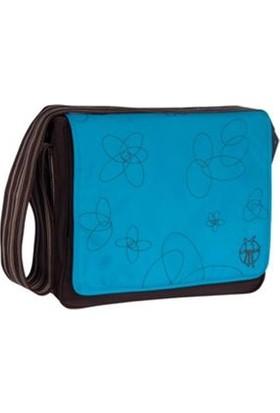 Lassig Bakım Çantası - Messenger Bag - Choco Graphic Ocean (Mavi - Kahve)