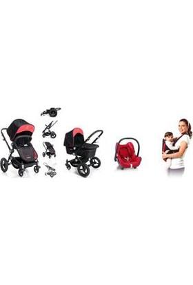Maxi Cosi Ferrari Travel Set - Kırmızı (Çift Yönlü Bebek Arabası + Portbebe + Cabriofix Anakucağı + Adaptör)