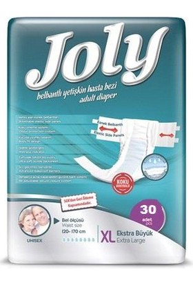 Joly Belbantlı Hasta Bezi 30 Adet Extra Large Ekstra Büyük Beden