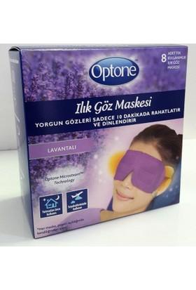 Optone Ilık Göz Maskesi 8Li Lavantalı - Yorgun Gözler İçin