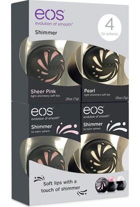 Eos Shimmer Lip Balm Sphere 4'lü Paket Toplam 1 Oz. 28 Gr