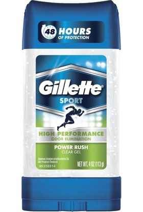 Gillette Sport High Performance Aniperspirant And Deodorant, Power Rush Clear Gel 3.8 Ounce (107 G)