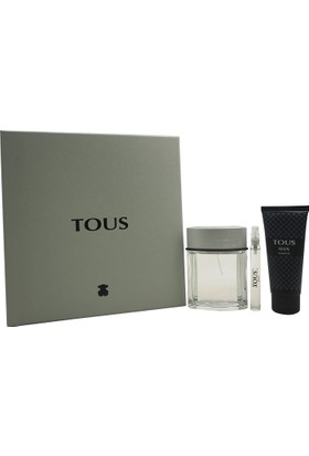 Tous Man Eau De Toilette 100 Ml Ve Shower Gel 100 Ml Ve Miniature Man 10 Ml Set
