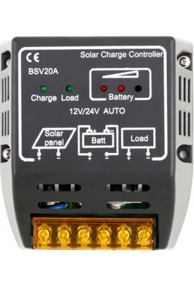 Solar Şarj Kontrol Cihazı 12/24V 20A