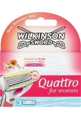 Wilkinson Sword Quattro For Women 3'lü Yedek Tıraş Bıçağı