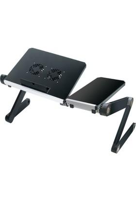Hodbehod Mouse Padli Portatif Katlanabilir Çift Soğutuculu Laptop Sehpası Standı