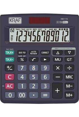 Kraf Hesap Makinesi Masaüstü 12 Hane Tax Hm - 115