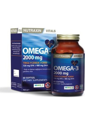 Nutraxin Omega 3 60 Softgel 2000 Mg