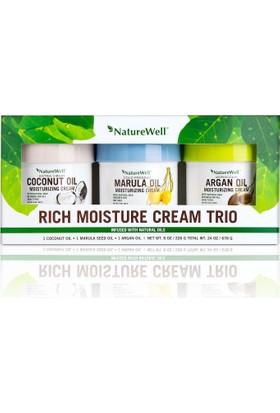NatureWell Rich Moisture Cream Trio 3'lü Nemlendirici Set 678 Gr