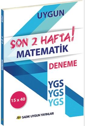Sadık Uygun Ygs Matematik Son 2 Hafta Deneme