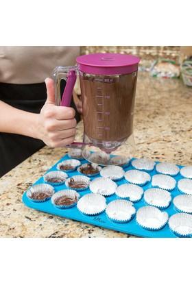 Kitchen Batter Dispenser / Ölçekli Hamur Dağıtıcı Pankek Cupcake Akıtma Yapma Makinesi